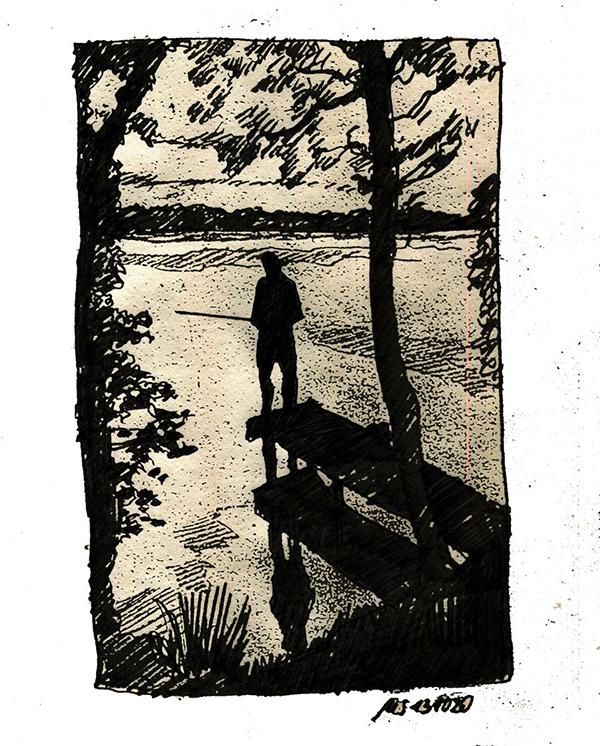 Der Angler. © Manfred Schlösser