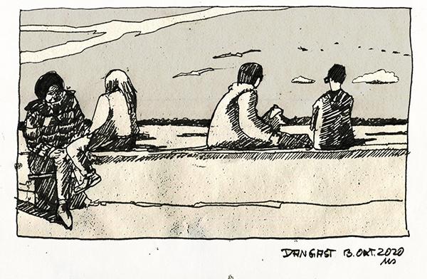 Kalt aber sonnig in Dangast. © Manfred Schlösser