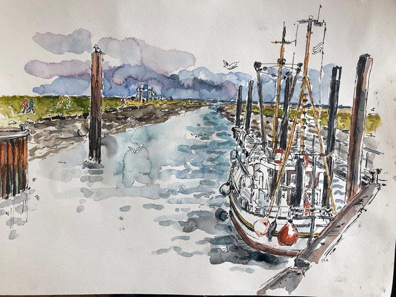 Am Vareler Hafen. © Isa Fischer