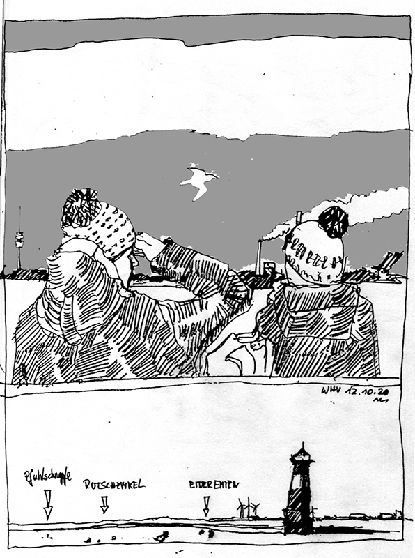 """Zugvogel-Exkursion auf der """"MS Harle Kurier"""". © Manfred Schlösser"""