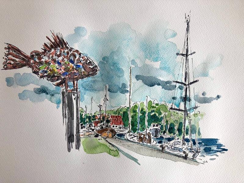 Vareler Hafen. © Isa Fischer