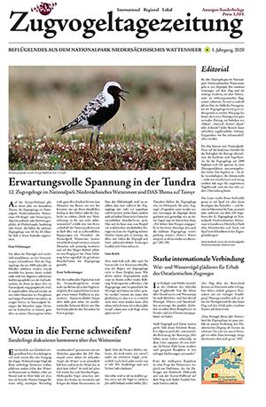 Titelseite der Zugvogeltagezeitung