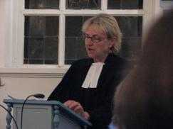 Susanne Schildknecht, Pfarrerin aus Recklinghausen, hielt die Andacht