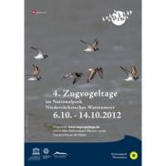 Poster zu den 4. Zugvogeltagen im Nationalpark Niedersächsisches Wattenmeer