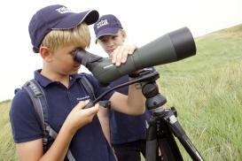 Junior Ranger bei der Vogelbeobachtung