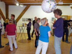 Vernissage der Ausstellung Geklebte Impressionen