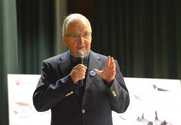 Ansprache Prof. Töpfer beim Zugvogelfest. Foto: R. Czeck