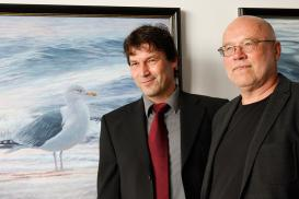 Claus Rabba und sein Kurator Klaus Ritter. Foto: Nationalparkverwaltung